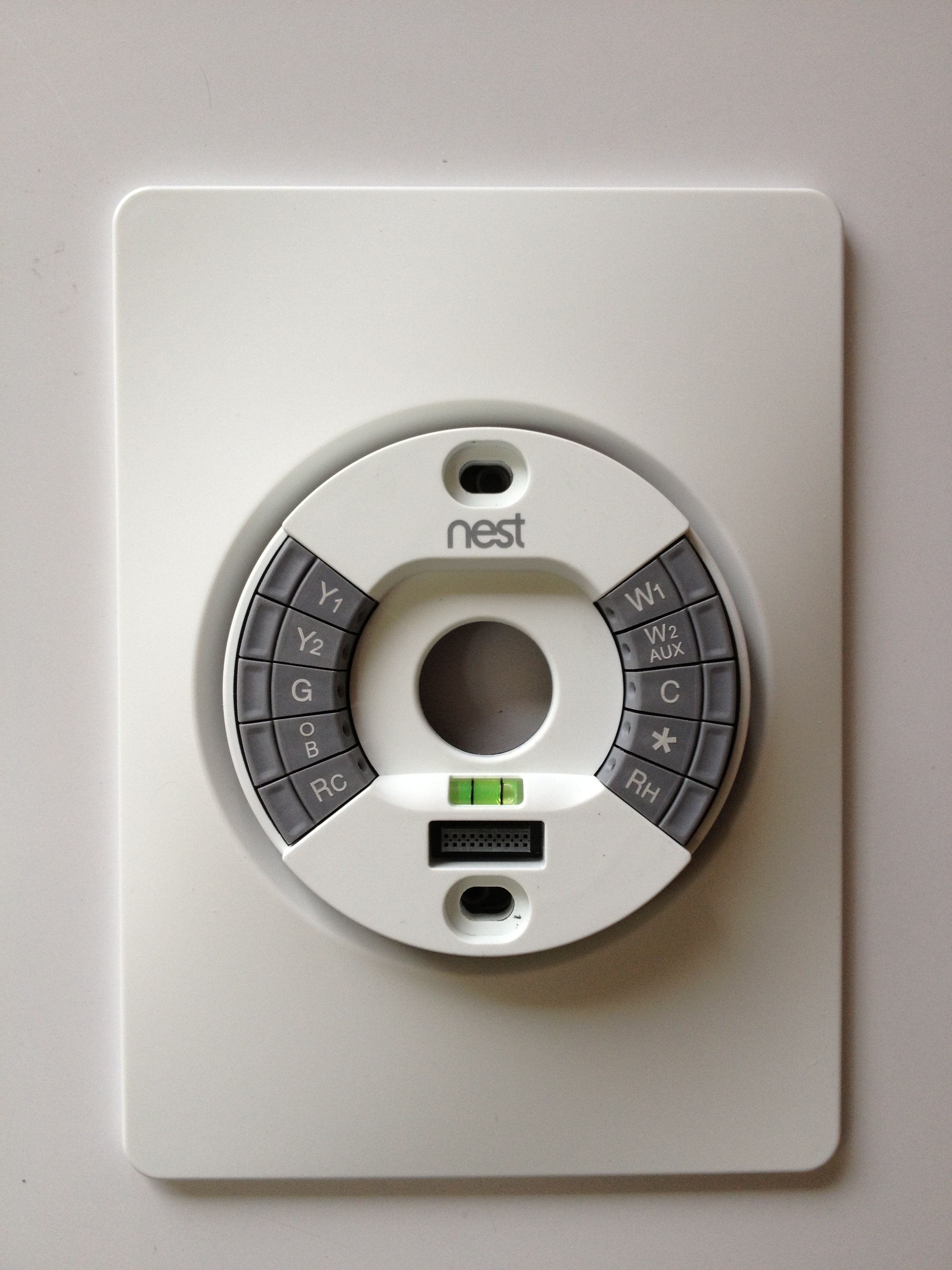 Nest Thermostat Wiring Plate - DIY Wiring Diagrams •